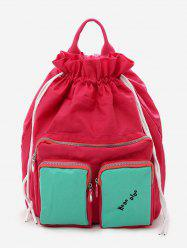 Contrasting Color Functional Vacation Backpack -
