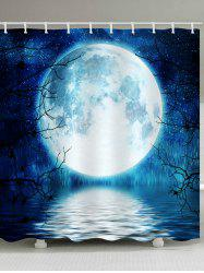 Moon Starry Sky Print Waterproof Bathroom Shower Curtain -