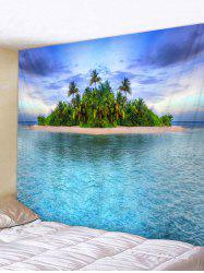 Wall Hanging Art Sea Island Print Tapestry -