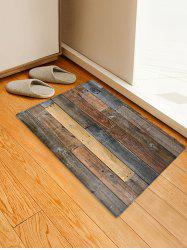 Vintage Wood Board Print Coral Fleece Area Rug -