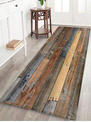Vintage Wood Board Print Fleece Area Rug -
