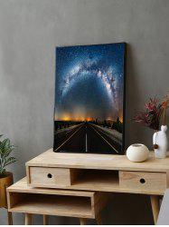 Milky Way Road Print Canvas Painting with Frame -