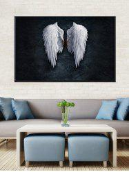Angel Wings Print Canvas Painting with Frame -