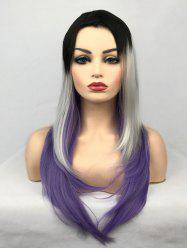 Layer Colormix Long Straight Cosplay Party Wig -