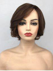 Short Inclined Bang Straight Colormix Capless Synthetic Wig -