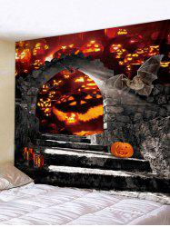 Wall Hanging Art Halloween Pumpkin Door Print Tapestry -