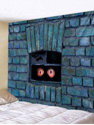 Wall Hanging Art Brick Wall Eyes Print Tapestry -