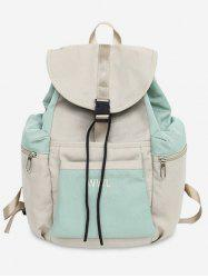 Casual Color Block School Backpack -