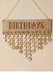 DIY Wooden BIRTHDAYS Calendar Board Wall Hanging -
