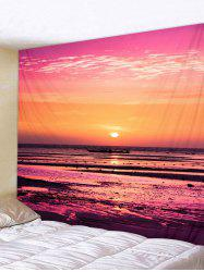 Wall Hanging Art Waterside Sunset Print Tapestry -
