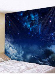 Wall Hanging Art Starry Clouds Print Tapestry -
