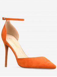 GOXEOU Ankle Strap High Heel Going Out Pumps -