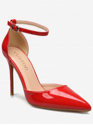 GOXEOU Pointed Toe Stiletto Heel Prom Pumps -