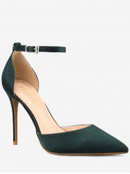 GOXEOU Stiletto Heel Pointed Toe Leisure Pumps -