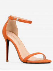 GOXEOU Ankle Strap Stiletto Heel Going Out Sandals -