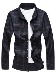Button Up Shiny Checked Print Shirt -