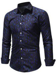 Geometric Triangles Print Button Up Shirt -