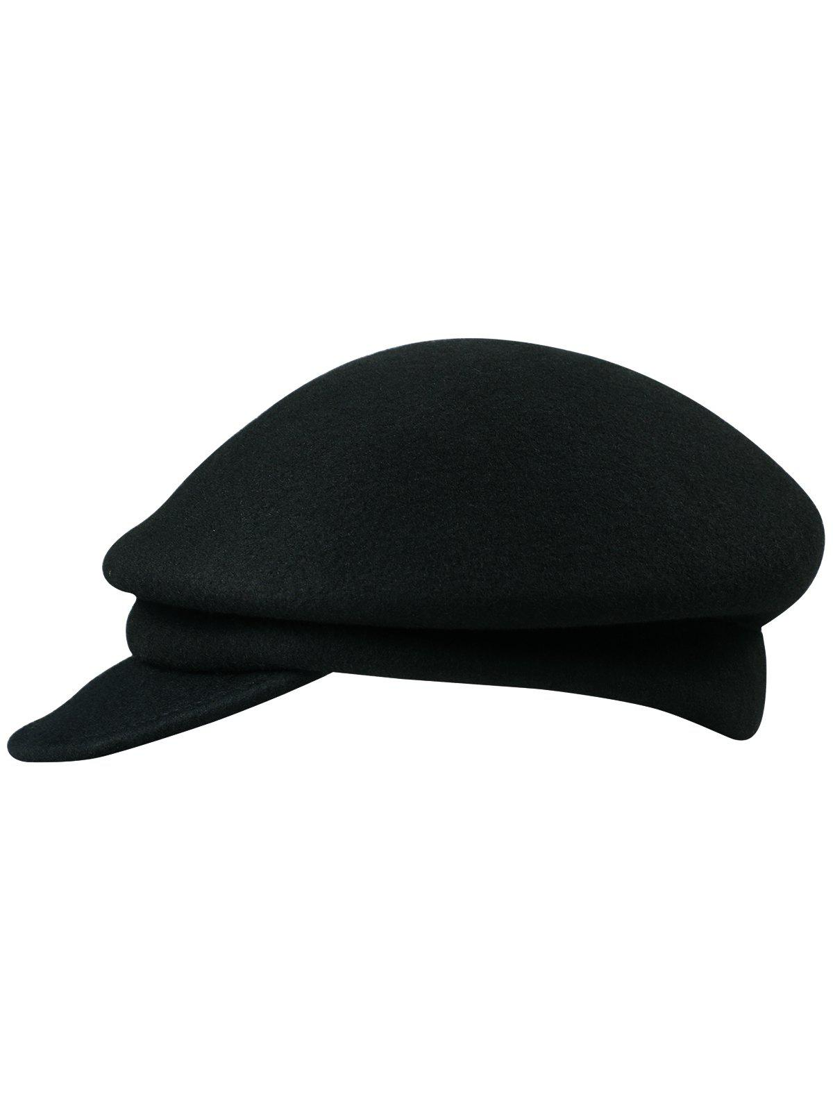 New Elegant Solid Color Wool Jeff Hat