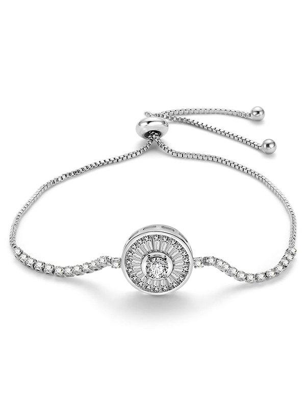 Fashion Artificial Diamond Round Design Adjustable Bracelet