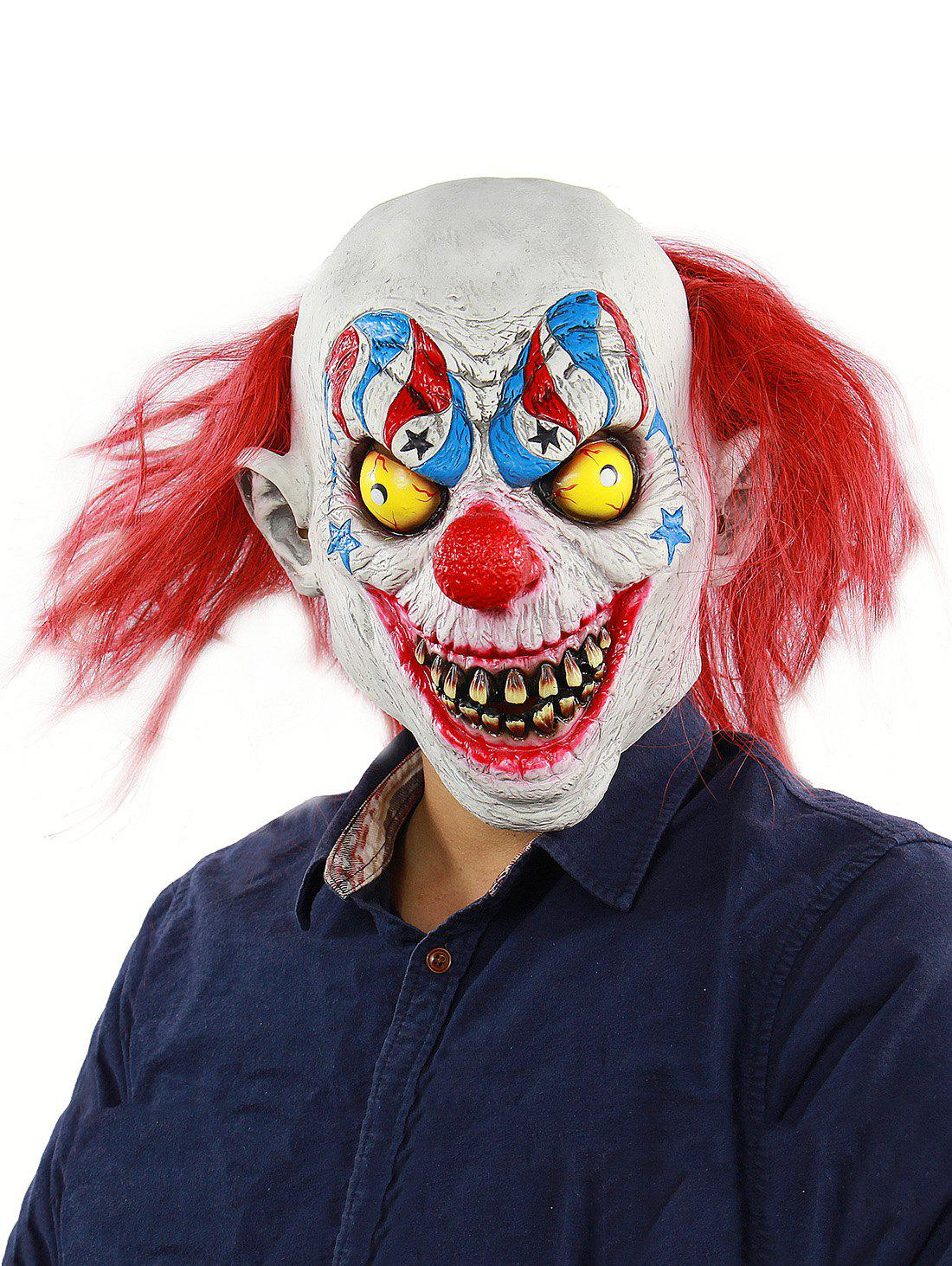 Chic Horror Clown Halloween Mask with Hair Wig