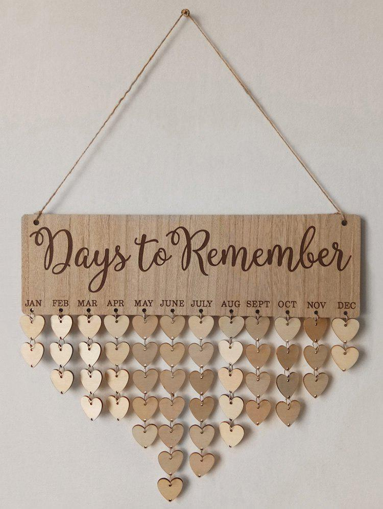 Shops Days to Remember Wall Hanging DIY Wood Calendar