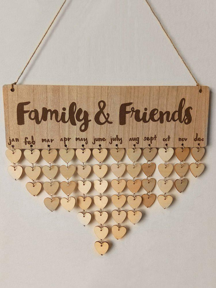 Hot Family and Friends Birthday Calendar DIY Wooden Reminder Board