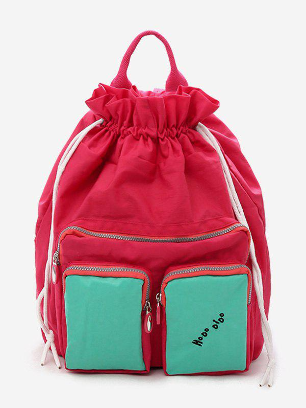 Fashion Contrasting Color Functional Vacation Backpack