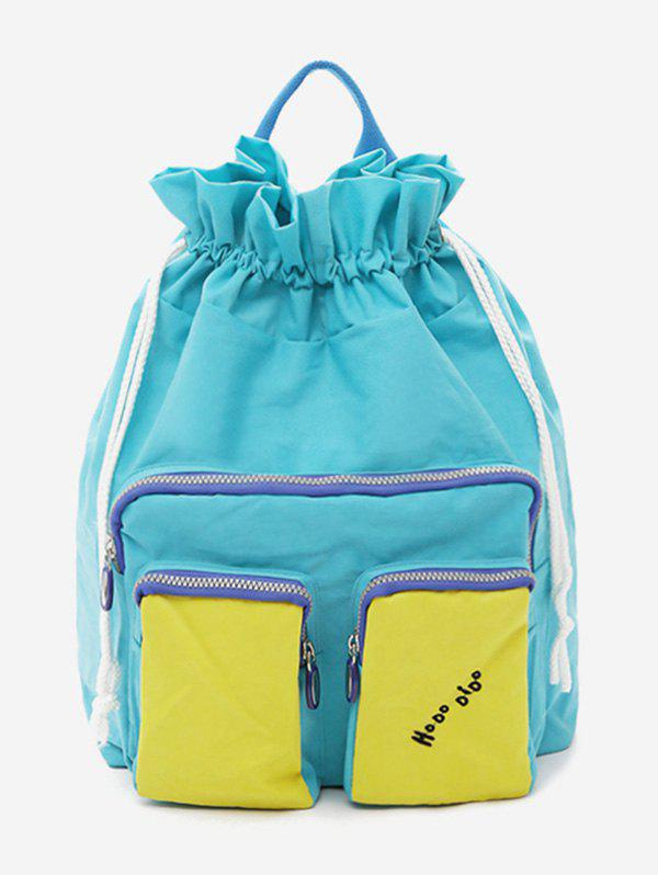 New Contrasting Color Functional Vacation Backpack