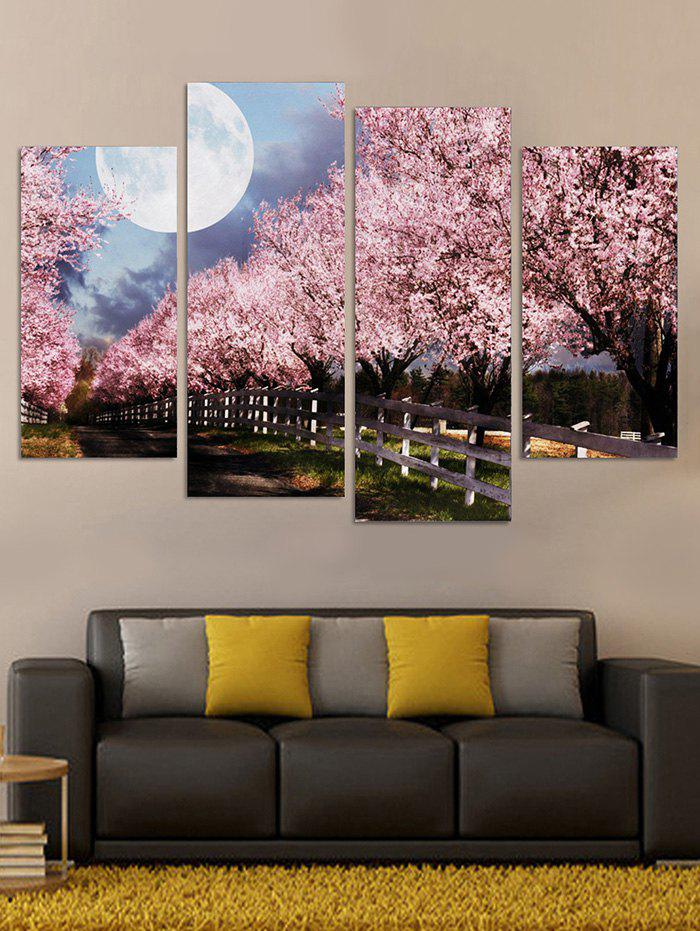 Fashion Cherry Blossom Moonlight Printed Unframed Paintings