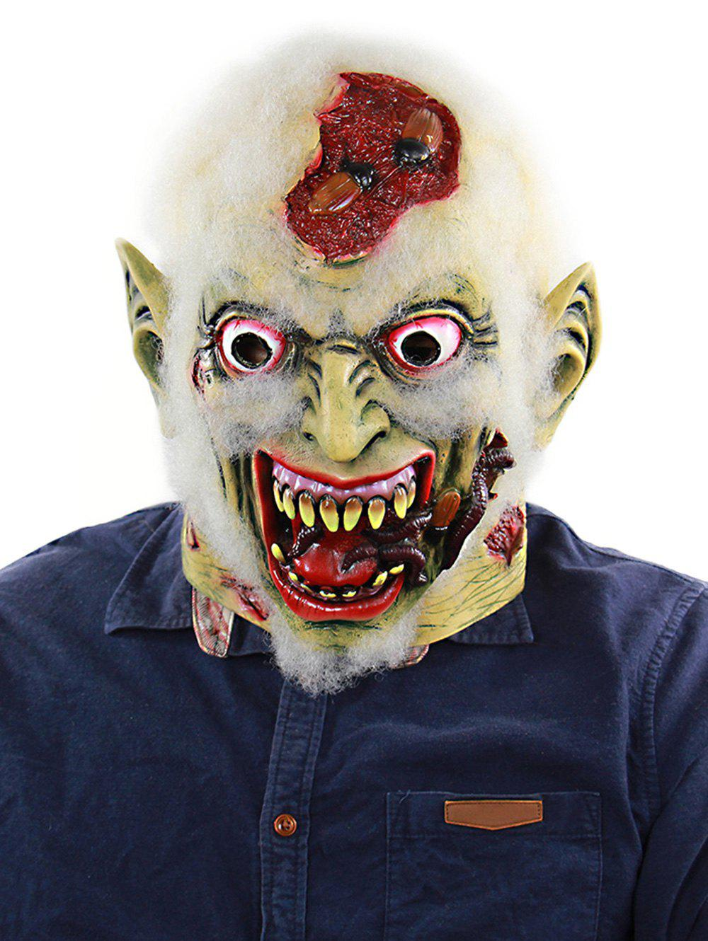 Fashion Decayed Zombie Full Face Party Mask With Worms