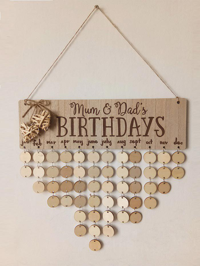 Buy DIY Wall Hanging Birthday Reminder Wood Sign Board