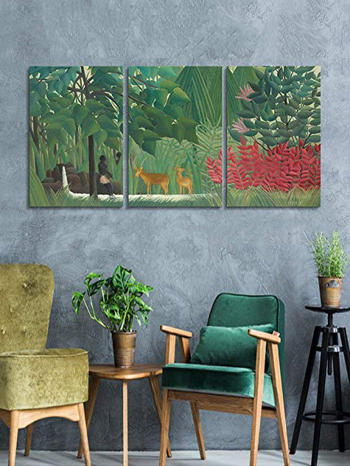 Store Primary Forest Print Unframed Split Canvas Paintings