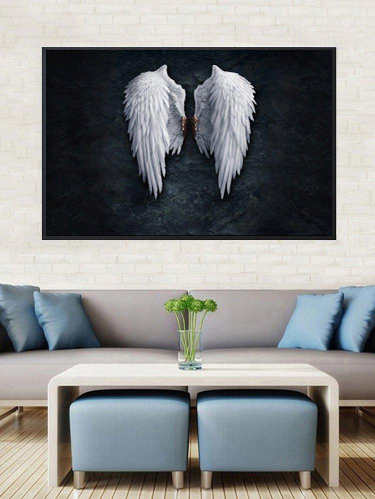 Best Angel Wings Print Canvas Painting with Frame