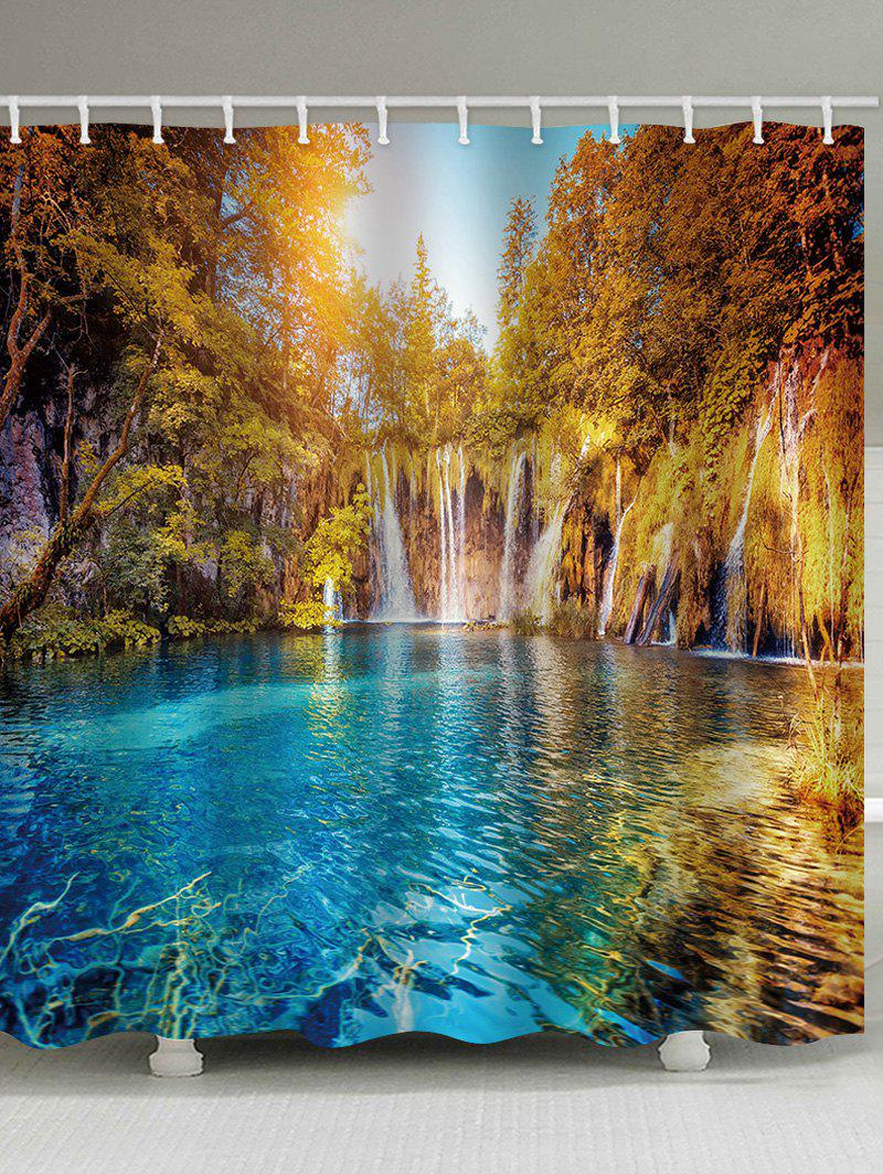 Shop Lake In The Forest Print Waterproof Bathroom Shower Curtain
