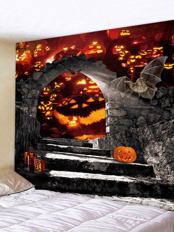 Latest Wall Hanging Art Halloween Pumpkin Door Print Tapestry