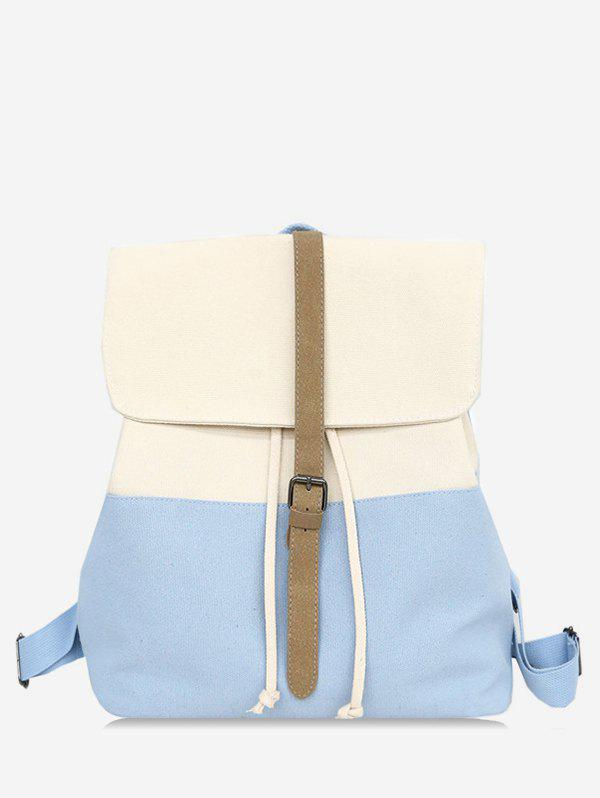 Outfit Flapped Color Block Chic Backpack