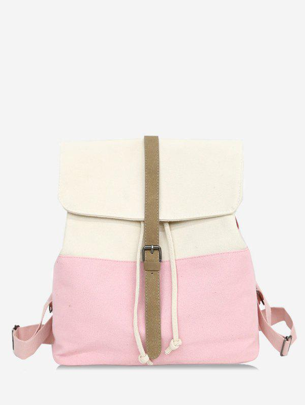 Cheap Flapped Color Block Chic Backpack