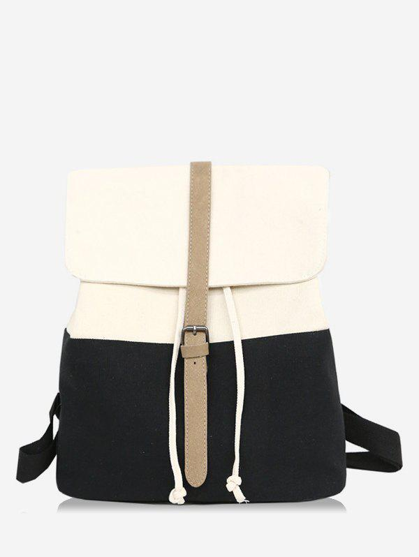 Latest Flapped Color Block Chic Backpack