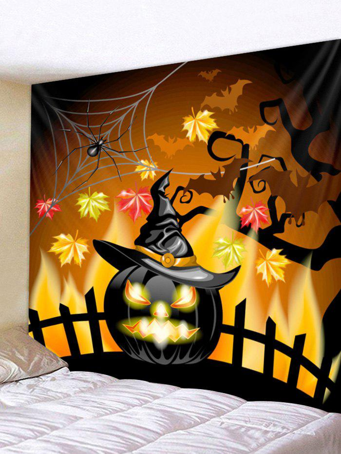 Affordable Wall Hanging Art Halloween Pumpkin Hat Print Tapestry