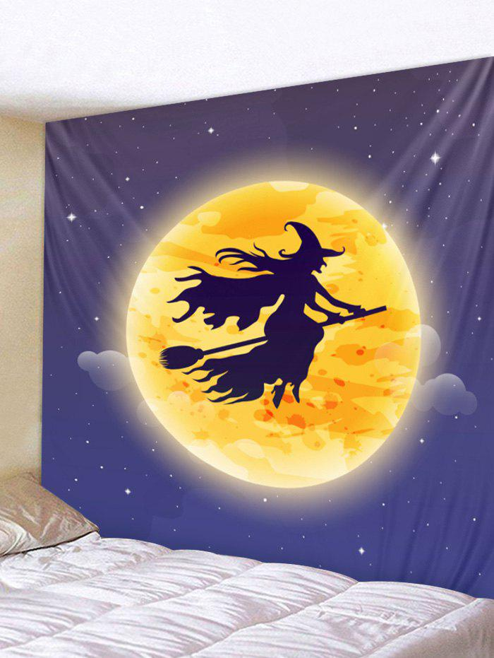 Hot Wall Hanging Art Halloween Moon Witch Print Tapestry