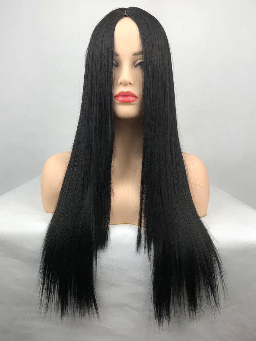 Affordable Long Center Parting Straight Heat Resistant Synthetic Wig