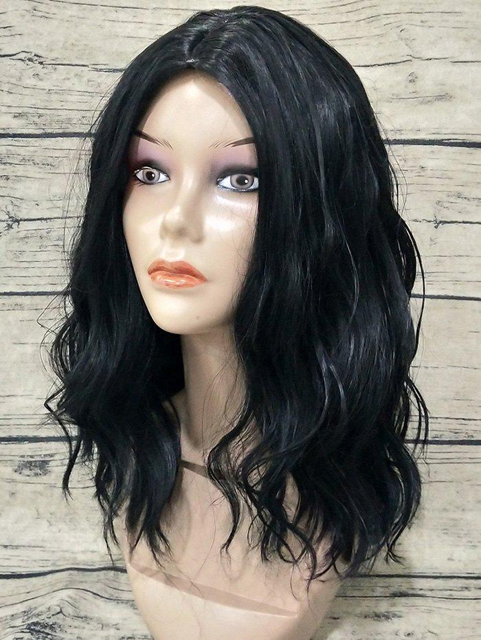 Store Medium Center Parting Natural Wavy Synthetic Wig