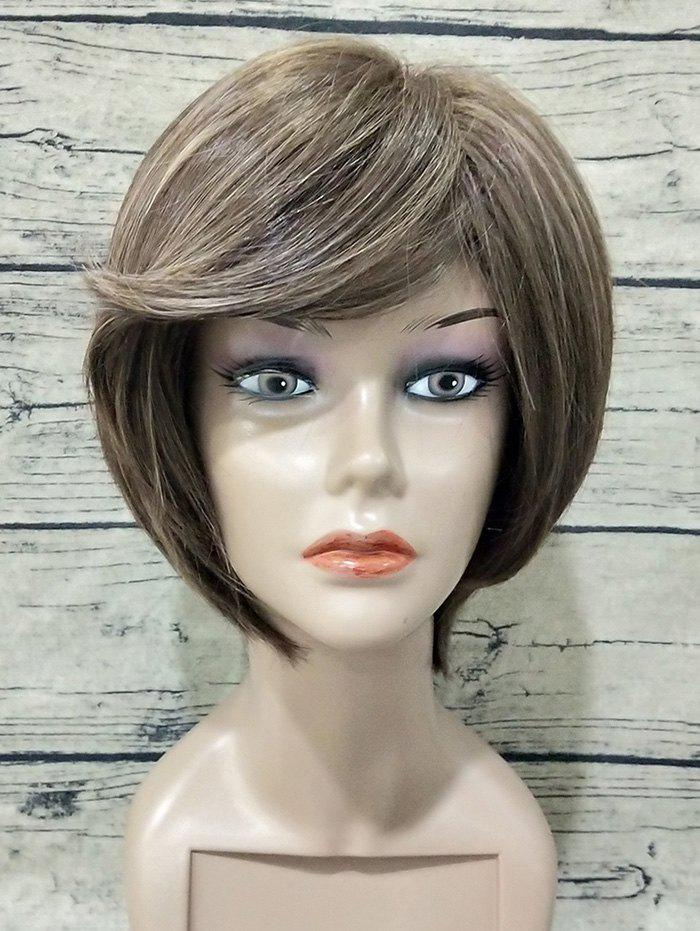 Shop Short Flip Inclined Bang Straight Colormix Synthetic Wig