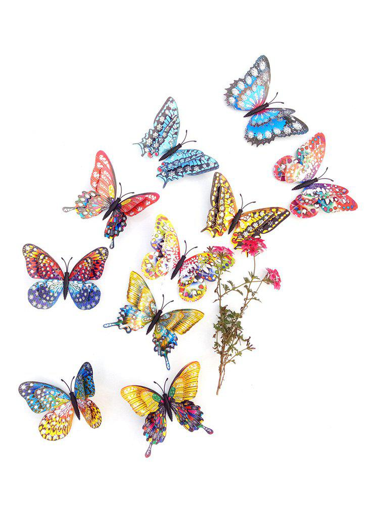 Latest 10 Pcs Double-layer 3D Butterfly Wall Stickers