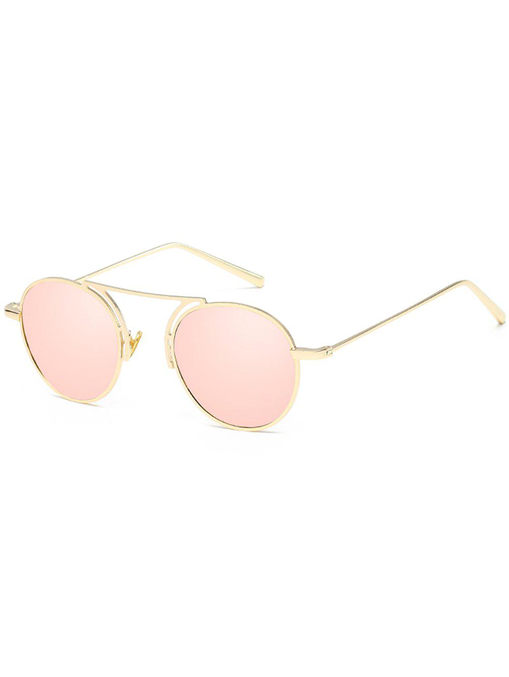 Outfits Vintage Metal Frame Top Bar Oval Sunglasses