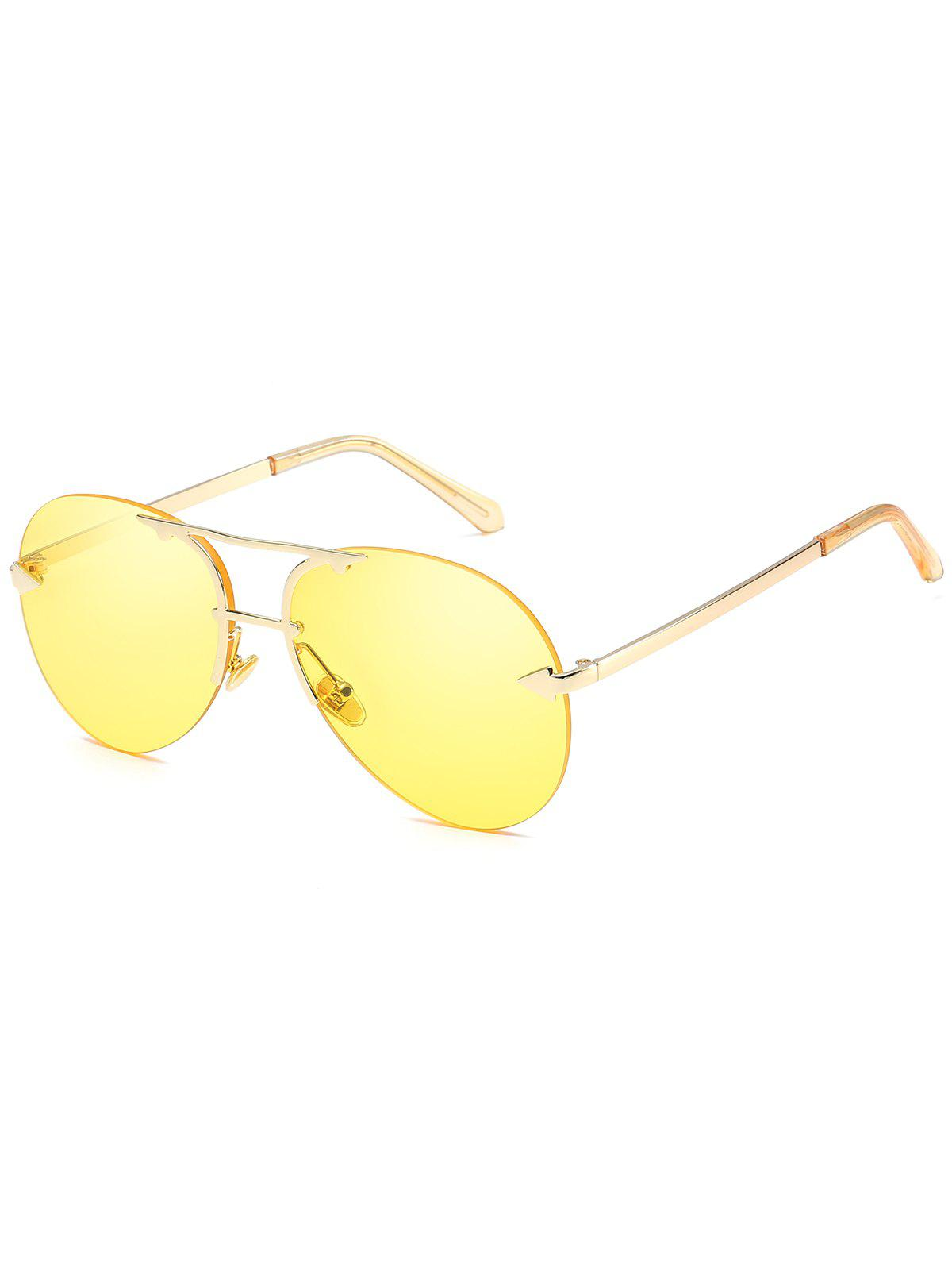 Shops Stylish Crossbar Rimless Sun Shades Sunglasses