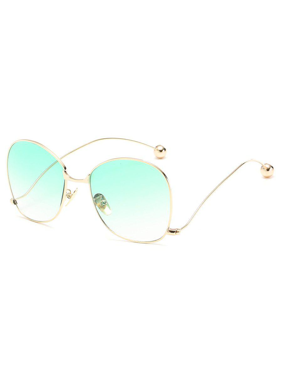 Outfit Vintage Alloy Frame Oversized Bent Legs Sunglasses