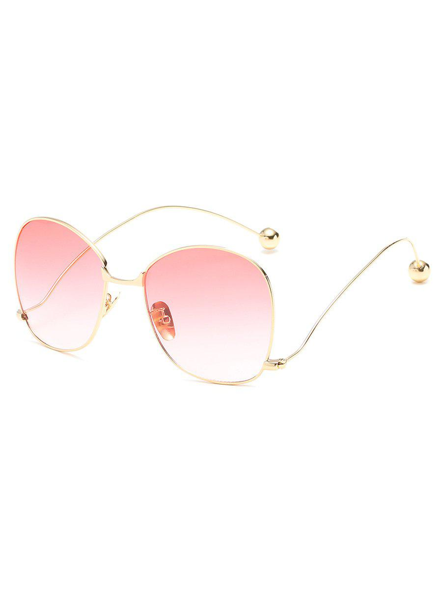Discount Vintage Alloy Frame Oversized Bent Legs Sunglasses