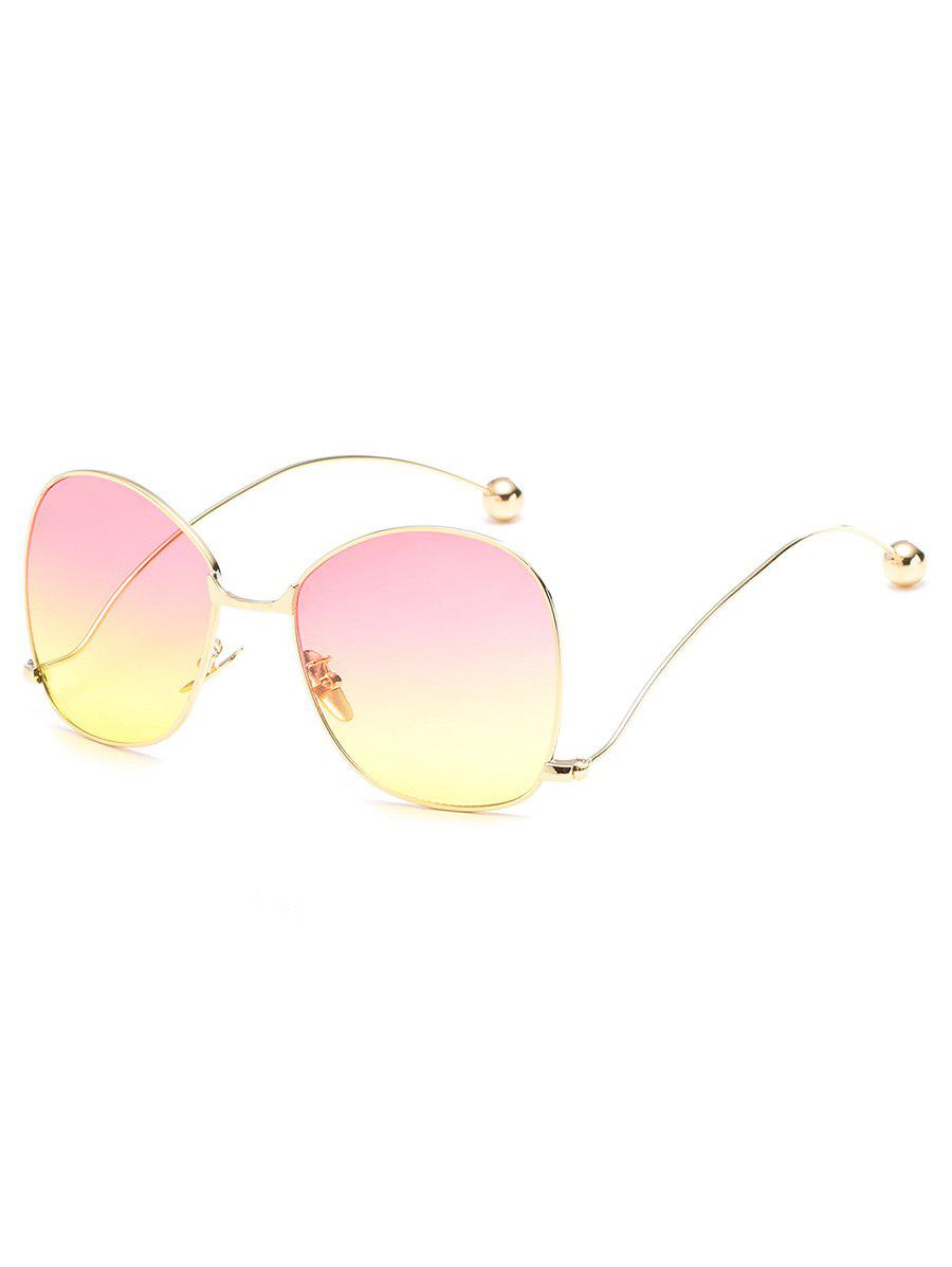 Chic Vintage Alloy Frame Oversized Bent Legs Sunglasses
