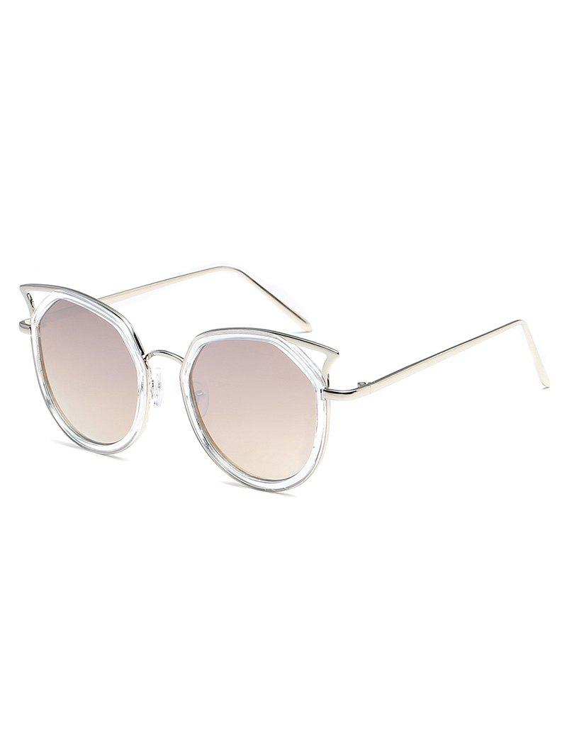 Fashion Statement Hollow Out Metal Frame Catty Sunglasses